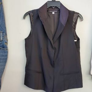 Alice & Olivia Leather accents vest